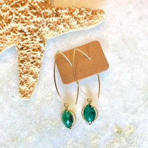 NWOT {NORDSTROM} Emerald Green Marquise Earrings